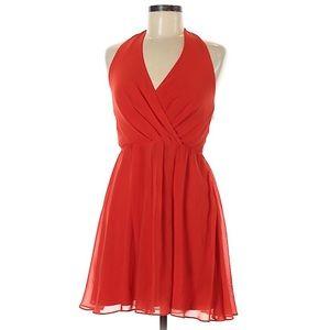 Bebe Red V-neck Mini Dress NWOT